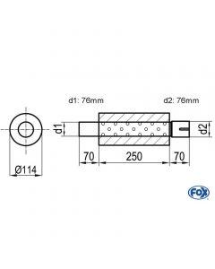 Fox Rear Muffler  Z/Sonder278