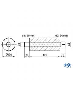 Fox Rear Muffler  Z/Sonder271