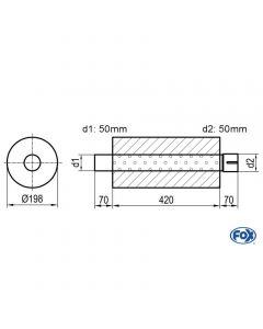 Fox Rear Muffler  Z/Sonder273